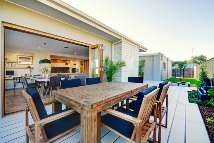 Outdoor dining inspiration for you #newhome #newhomedesign Pycon Homes - Coffs Harbour display village.