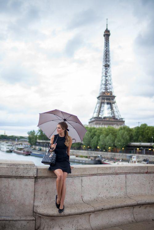 Little Black Dress In Paris Avenue des Camoens for best shots of Eiffel tower