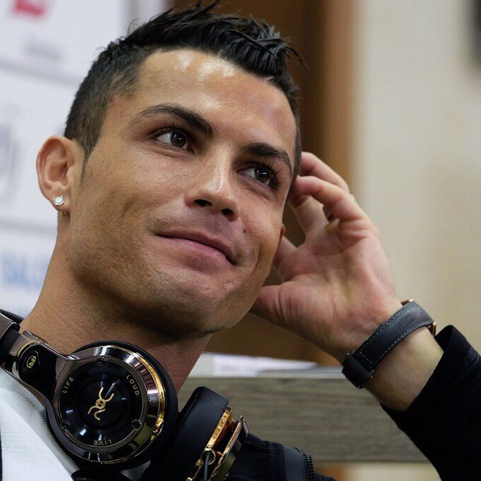 Cristiano Ronaldo dos Santos Aveiro GOIH, ComM is a Portuguese professional  footballer who plays as
