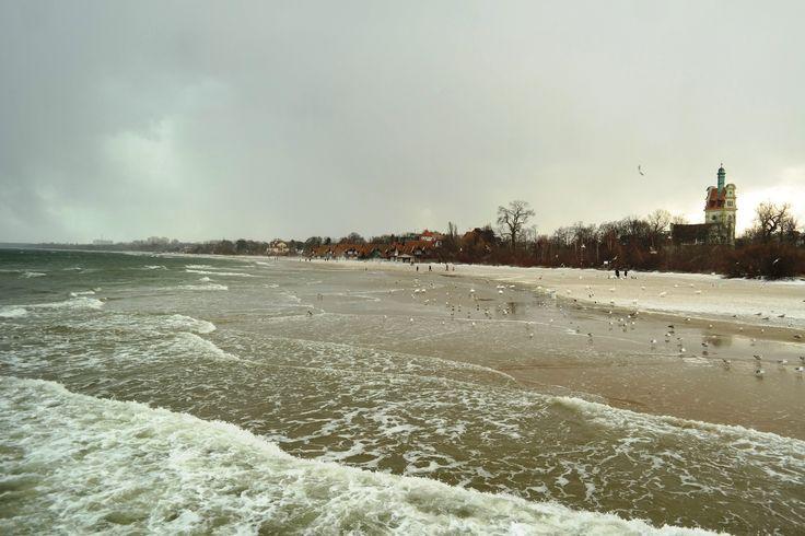 #Sopot Plaża zimą #Polska #Poland  Magda Fijołek pracownik działu Marketingu