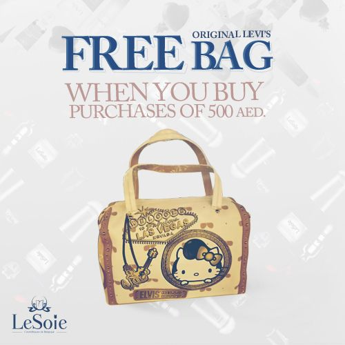 How about getting your christmas gifts from Lesoie as well as a little beautiful gift for you as well ! Just buy 500 AED worth of awesome products from Lesoie and get this awesome bag as a gift from us to YOU! ليسوى ستكافئك هذا الكريسماس عند شرائك هدايا بقيمة 500 درهم اماراتي من منتجات ليسوى الرائعة بهذه الحقيبة المميزة وهذه ستكون هديتنا لكي هذا العام