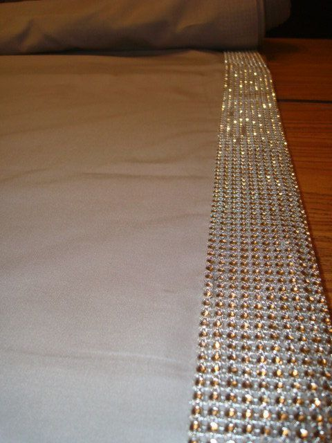 This aisle will make you smile!! Add a bit of sophistication and glam for your walk down the aisle to your groom! Rhinestone Mesh Sparkly Trim edges