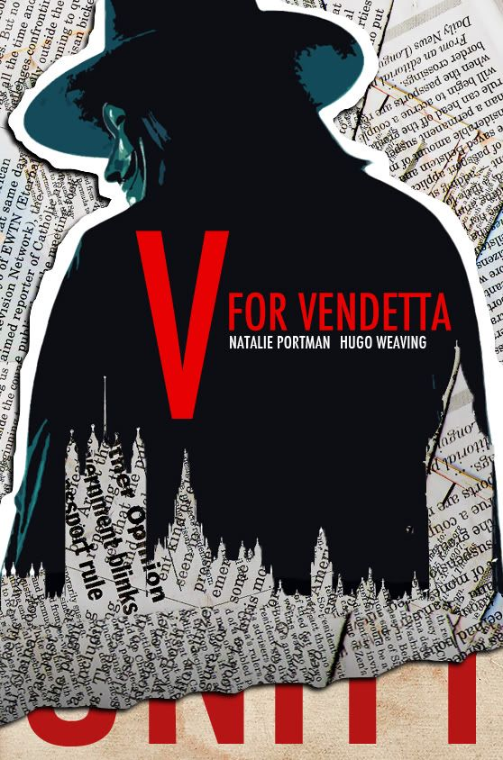 V for Vendetta Movie Poster  Luis Fernando Cruz
