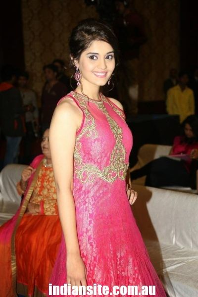 Actress Surabhi Latest Cute Pink Dress Photoshoot - Indiansite
