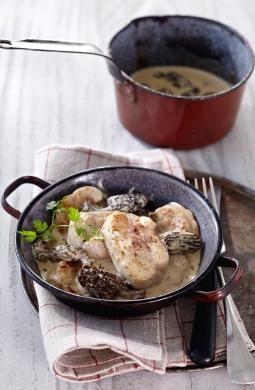 Idées recette Cassolette de ris de veau aux morilles