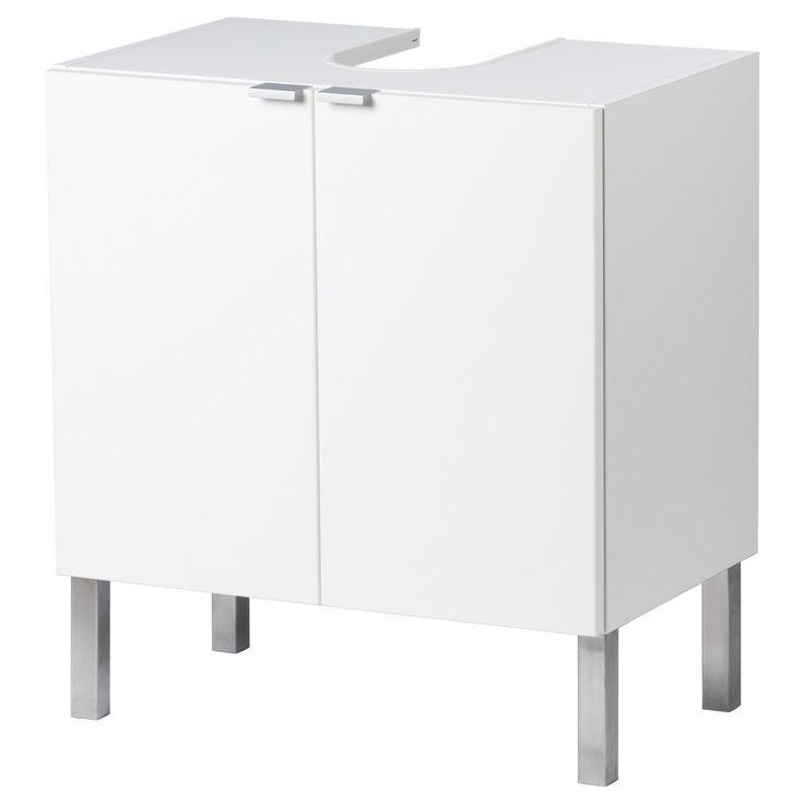 LILLÅNGEN, Waschbeckenunterschrank, 2 Türen, weiß | Bad > Badmöbel > Waschbeckenunterschränke | Weiß | Abs | IKEA