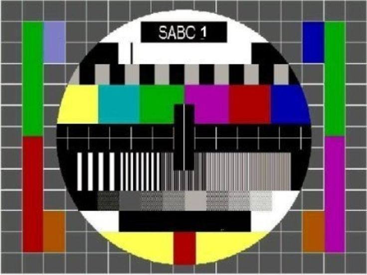 Test Pattern - religiously every night at 24h00 when this image appeared - the T.V. station closed down. NO MORE broadcasting after that LOL!!! Those were the days...