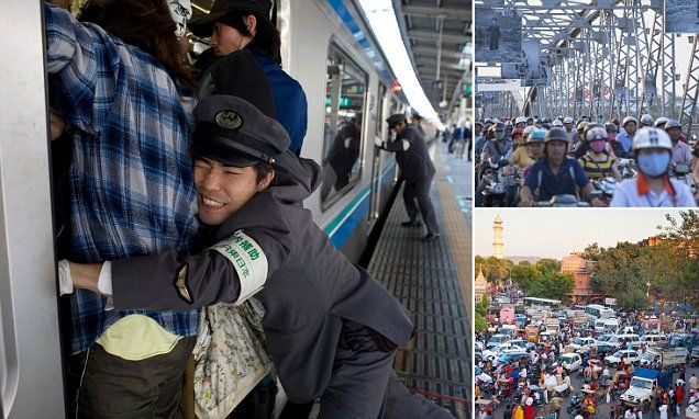 Incredible images of rush hour around the world revealed