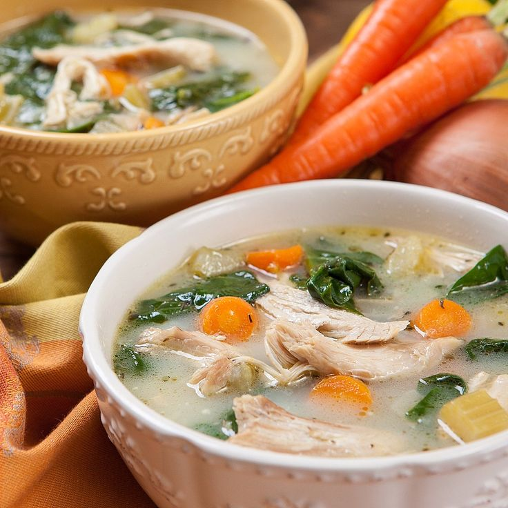 Chicken soup recipe that is delightfully satisfying on the quick! The pressure cooker creates both a wonderful chicken soup w/ perfectly cooked chicken meat