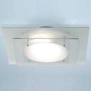 17 best images about bathroom lighting ideas on pinterest bathroom vanity lighting wall for Square bathroom ceiling light
