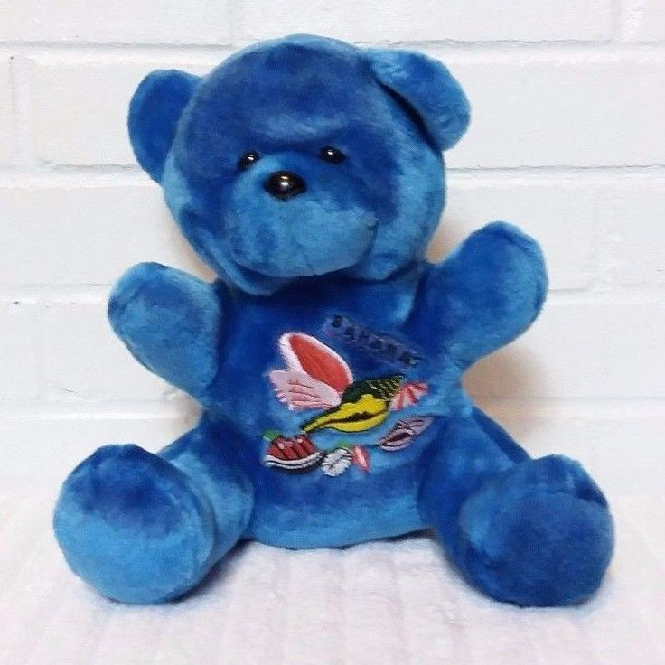 Bahamas Blue Teddy Bear Stuffed Animal Plush                               (A29) #Unbranded