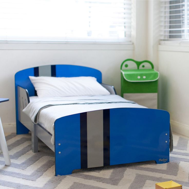 P'kolino Classically Cool Toddler Bed - Racing Stripes - PKFFCHTBRS
