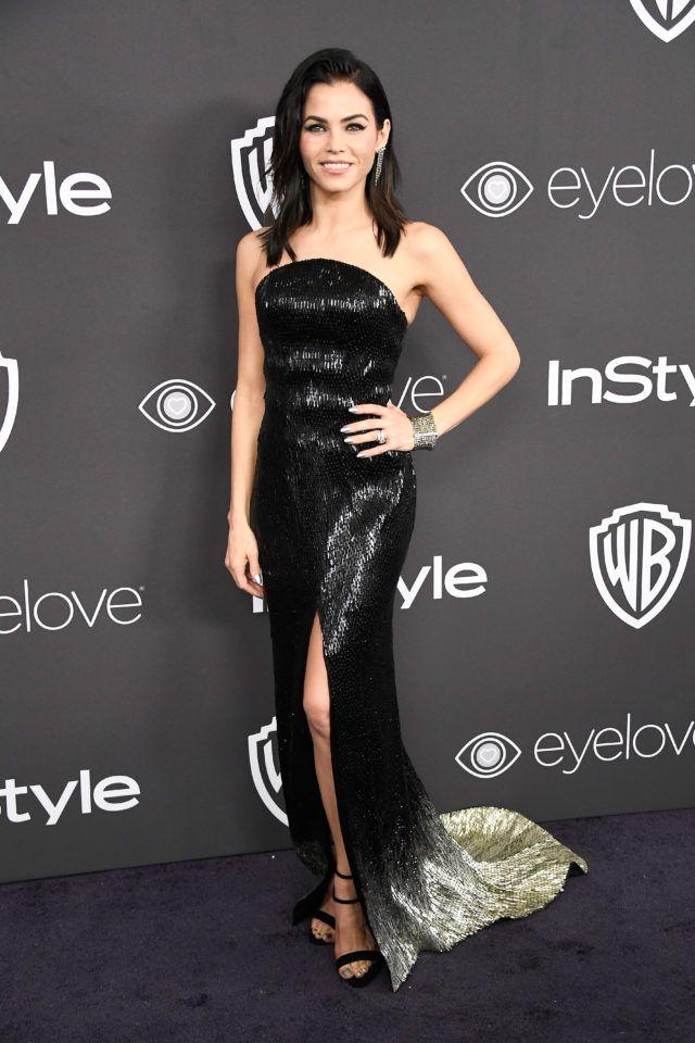Jenna Dewan-Tatum in Julien Macdonald at the 2017 InStyle Golden Globes Party