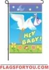 Here Comes My Baby Garden Flag - 2 left