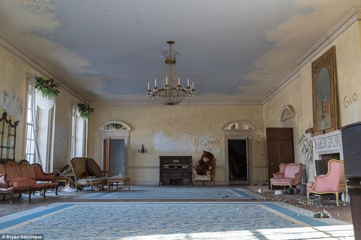 The mansion was built in the 1930s and the neglect is allegedly down to an owner who would buy lavish mansions and leave them to rot