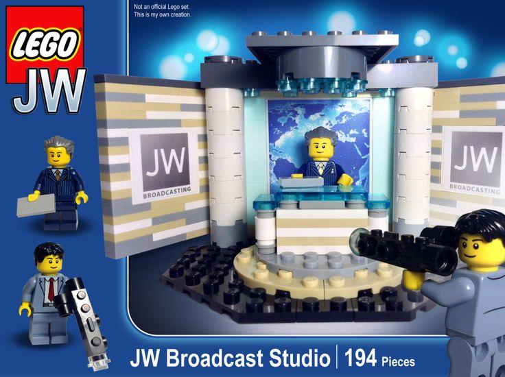 JW Broadcast Studio Lego Set by SketchBuch on Etsy https://www.etsy.com/listing/238371729/jw-broadcast-studio-lego-set