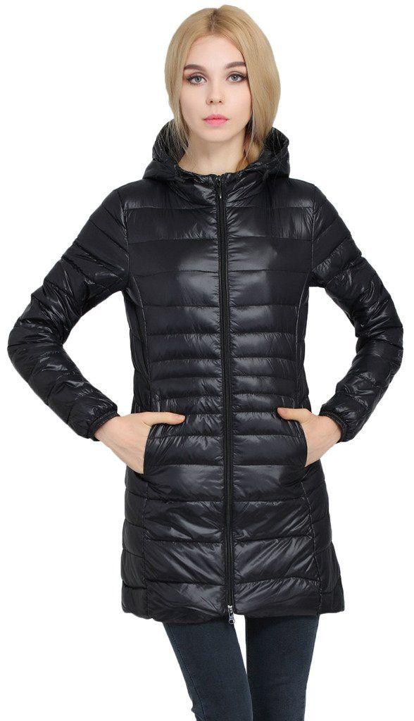 52be8f84d Sawadikaa Womens Lightweight Hooded Long Down Outerwear Puffer ...