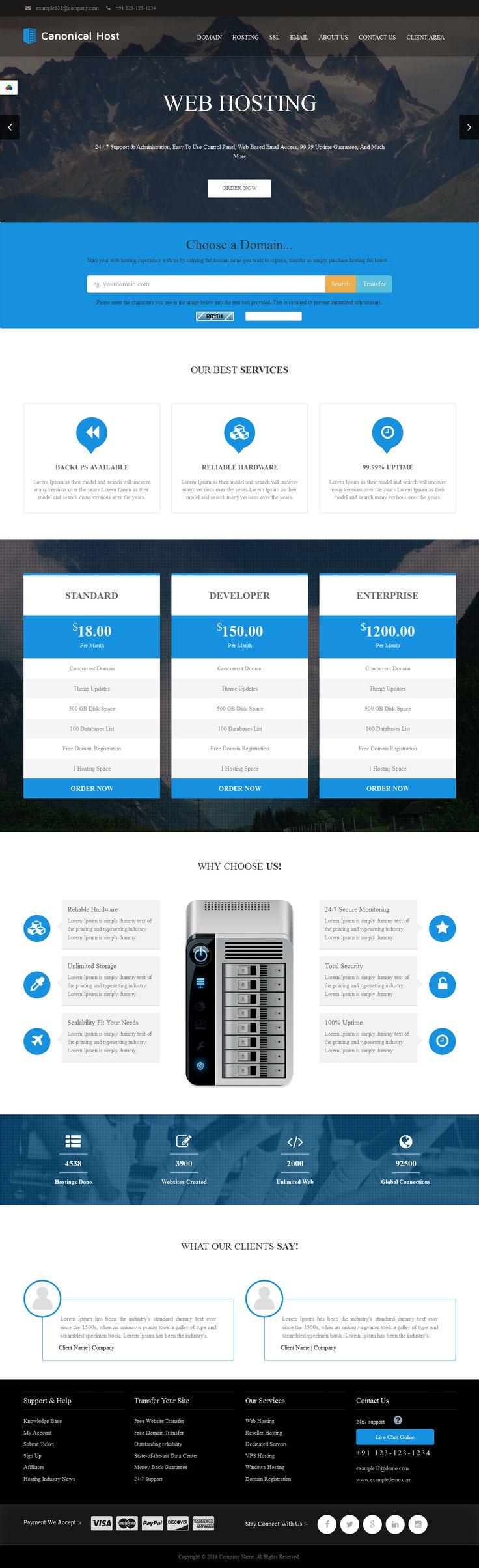 webhosting templates