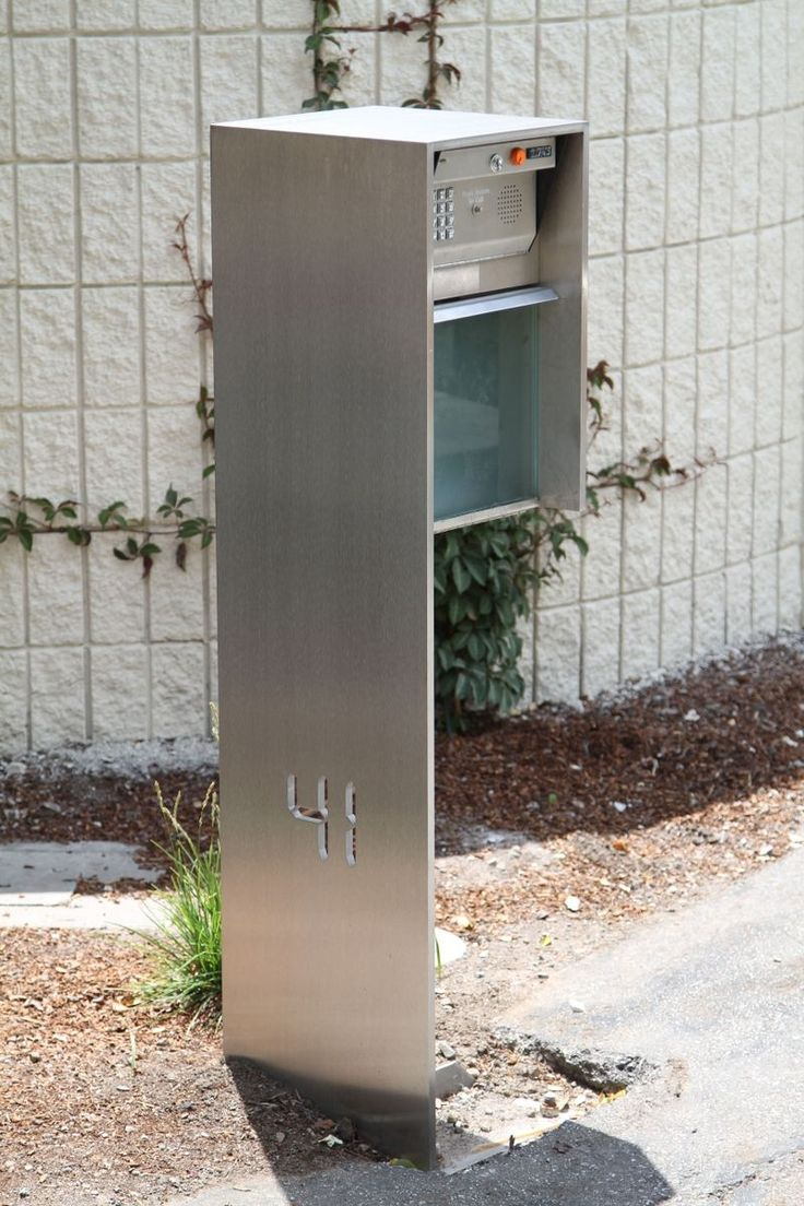 Mailbox stainless steel locking mail box letterbox postal box modern - Awesome Modern Mailboxes Designs Incredible Modern Mailbox Design Comes With Silver Color Metal