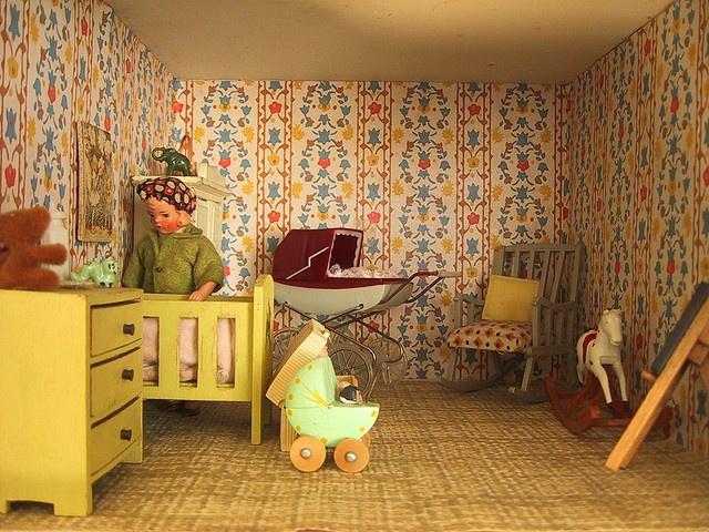 vintage nursery furniture. Vintage Triang Dolls House Nursery Furniture L