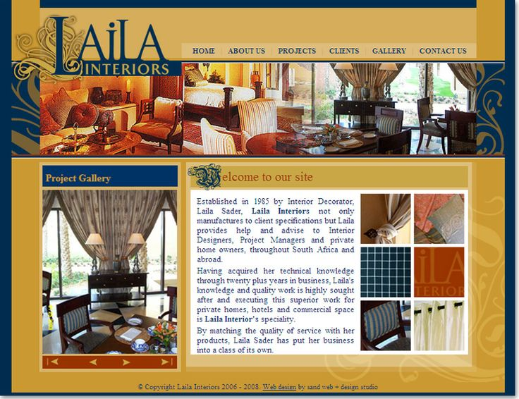 Interior and Exterior website design for Laila Interiors