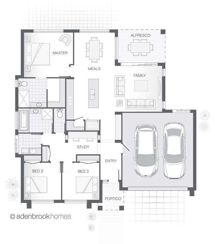 Single Storey Home Design   The SORRENTO by Adenbrook Homes