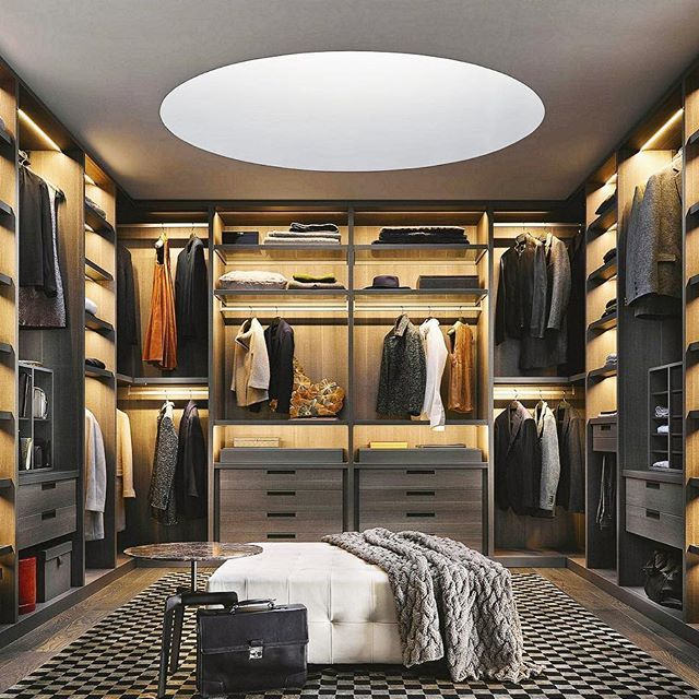 Massive walk in closet with a skylight 😳👌🏼 #ModernMansions