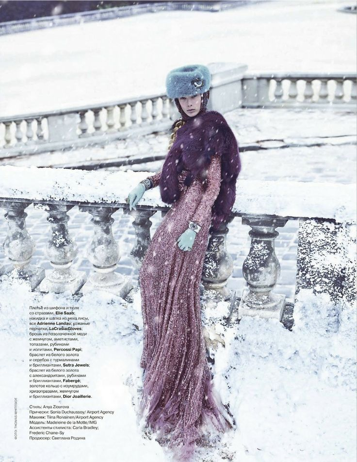 visual optimism; fashion editorials, shows, campaigns & more!: madeleine de la motte by thomas whiteside for tatler russia december 2011