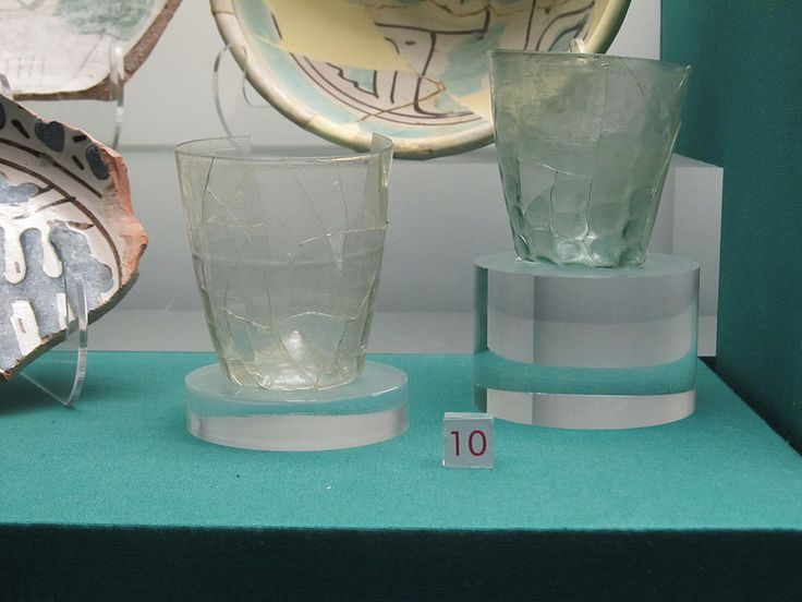Glass glassware, 14/15th, from Spezieria (Pharmacy) di Santa Fina, San Gimignano (Tuscany)