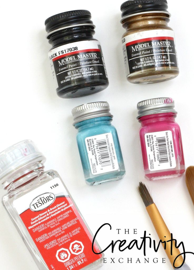 Best paints to use on glass, ceramics and metals.