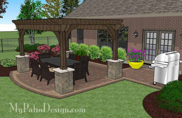 Our Simple Paver Patio Design With Pergola Provides A