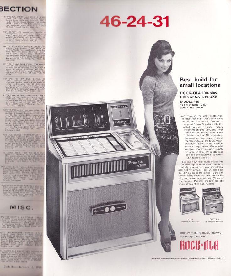 ROCK-OLA 100-play PRINCESS DELUXE MODEL 435 (Cash Box Magazine. January 13,1968)