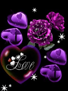 IN MY PURPLE WORLD OF HEARTS AND ROSES.