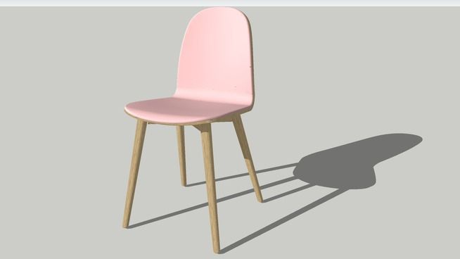 NamNam Chair, Wood with Front Upholstery by Sebastian Holmbäck - 3D Warehouse