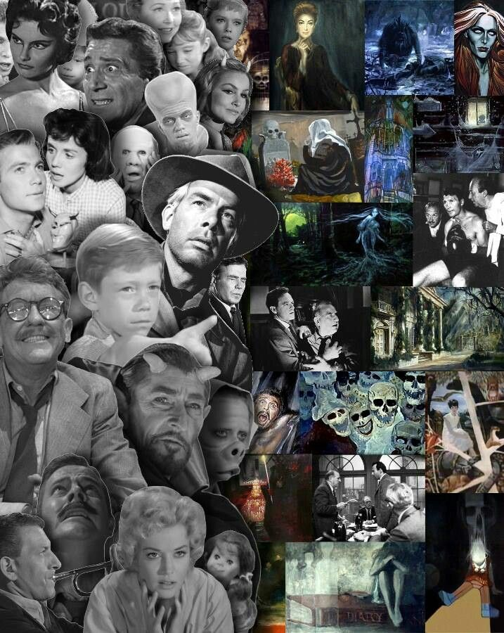 Twilight Zone/Night Gallery collage.