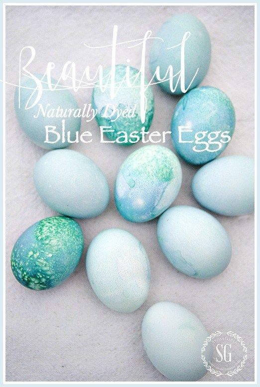 BEAUTIFUL NATURALLY DYED BLUE EASTER EGGS - StoneGable