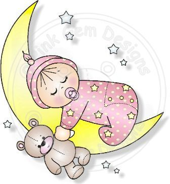 Moon Baby (Boy and Girl) - Digi Stamps