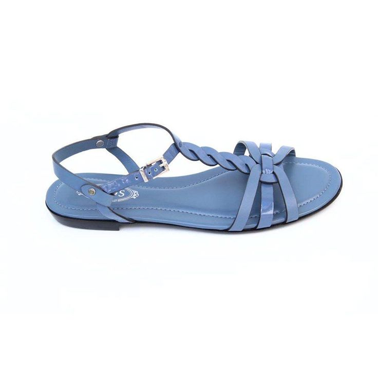 Blue 36 EUR - 6 US (241mm) Tods ladies flat sandal XXW0MD0A060297U206