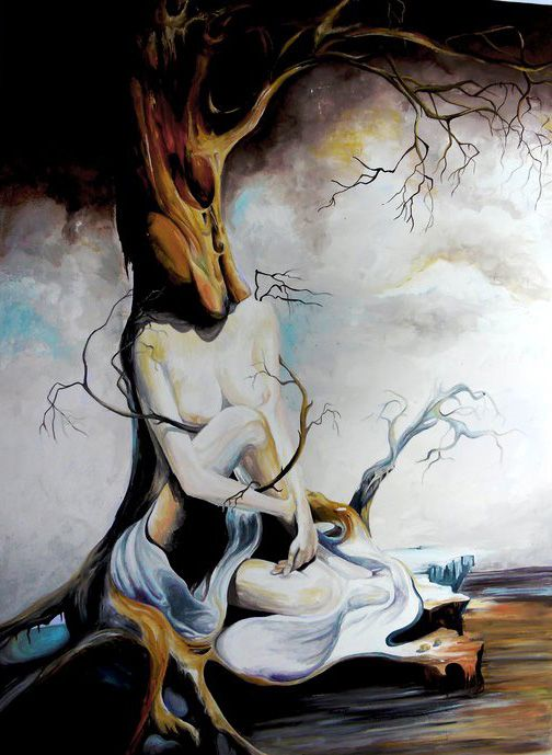 A surrealism painting by the great artist Salvador Dali