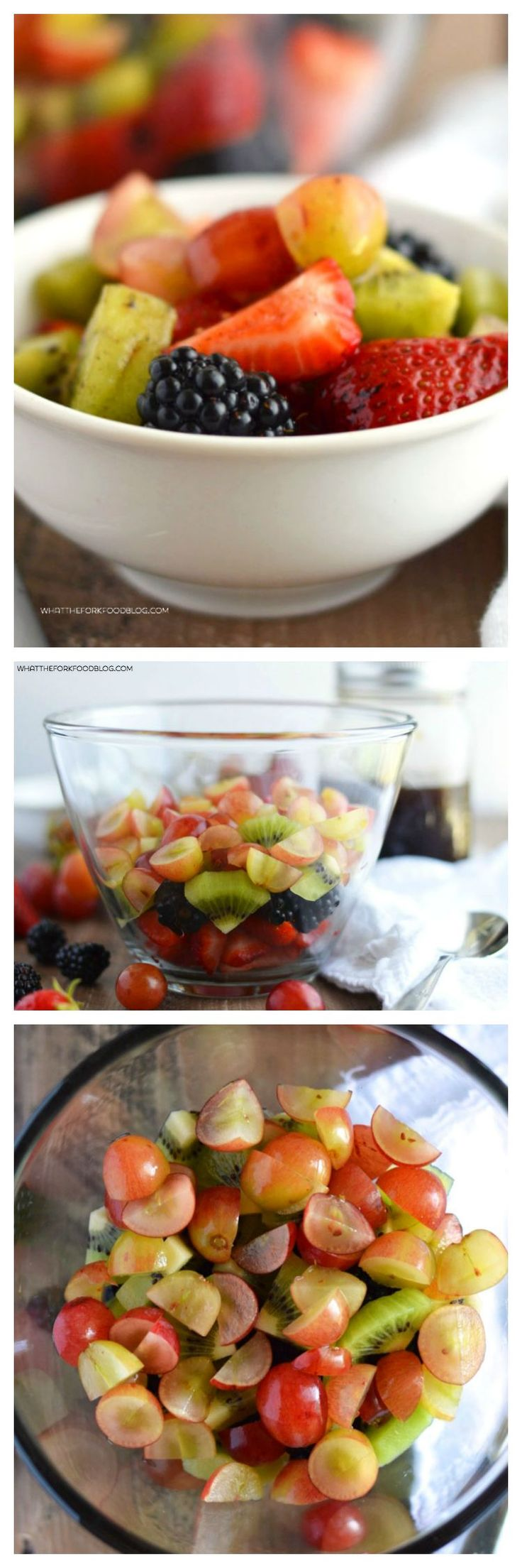 Easy Fruit Salad for Two with a coconut sugar simple syrup from What The Fork Food Blog (gluten free, dairy free, vegan) | @WhatTheForkBlog | whattheforkfoodblog.com