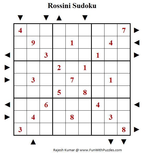 Rossini Sudoku Puzzle (Daily Sudoku League #195)