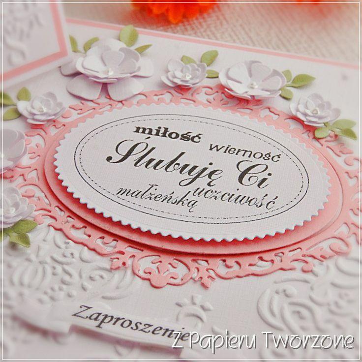 Ręcznie wykonane zaproszenia na ślub