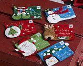 Letters to Santa Holder or Gift Card Holders. Set of 6 - Elf - Rudolph - Santa - Snowman - Penguin - Pine Tree