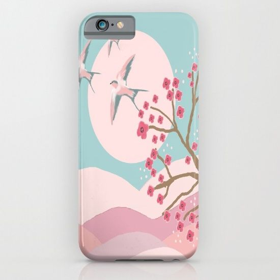 Swallows in Spring iPhone & iPod Case by Susana