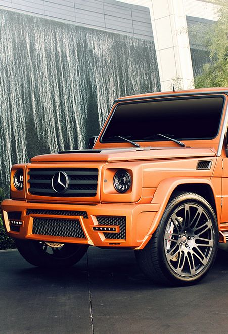 Mercedes G-Wagon #Orange #Mercedes #VictoryAutoMN http://victoryautoservice.com/