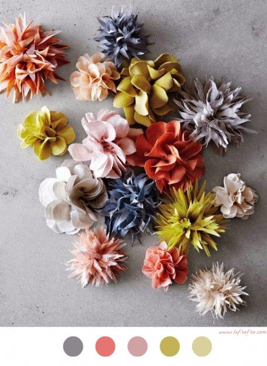 Fleurs En Tissu , DIY déco , décoration , decoration , flowers , fabric ,  tuto
