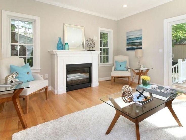 Living Room featuring Benjamin Moore Barren Plain