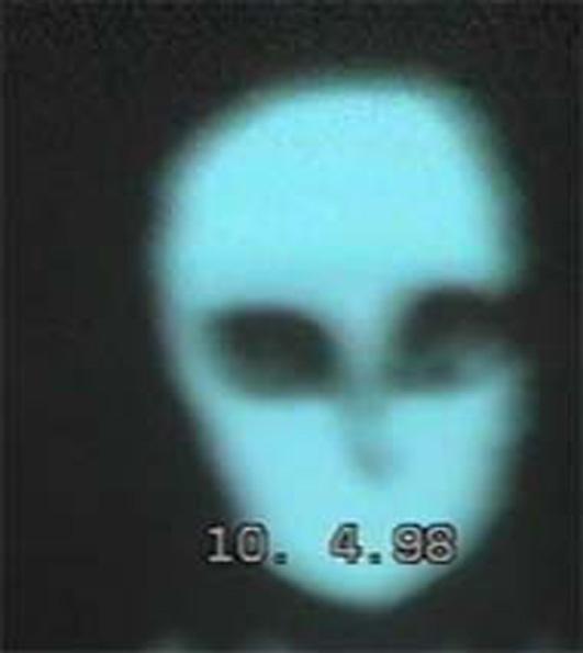"""Photo of a friendly ET- """"The Blue Man"""""""