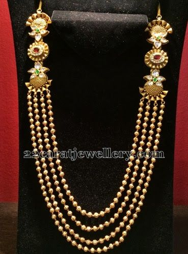 Jewellery Designs: Antique Multi Rows Necklace