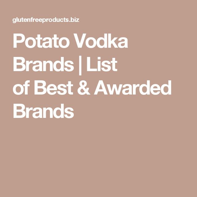 Potato Vodka Brands | List of Best & Awarded Brands